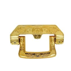 Movable handle for coffin and casket
