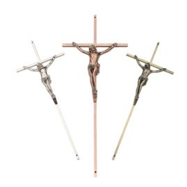 metal crucifix and cross for coffin
